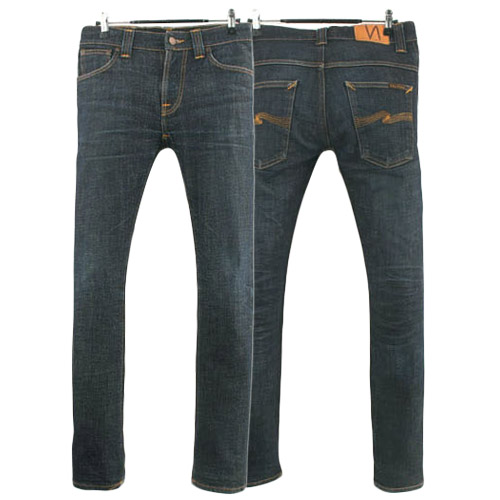 NUDIE JEANS THIN FINN DRY TWILL ITALY 누디진 씬핀 청바지 데님팬츠 SIZE 27 루스, ROOS